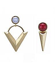 Mood Triangle odd earring set