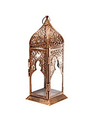 Tall Glass Moroccan Style Lantern