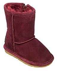 Chipmunks Burgundy Suede  Boot