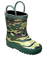 Chipmunks Summit Camouflage Wellingtons