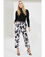 Elvi Floral Print Trousers