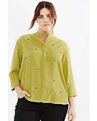 Elvi Lime Embellished Blouse