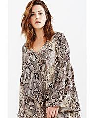 Elvi Snake Print Gypsy Dress