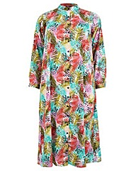Koko Palm Print Longline Shirt Dress