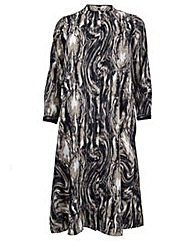 Koko Brushed Print Longline Shirt Dress