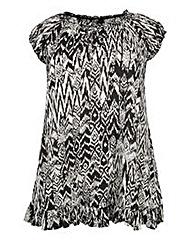 Koko Aztec Print Frilled Tunic
