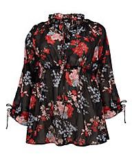 Koko Floral Print Elastic Waist Tunic