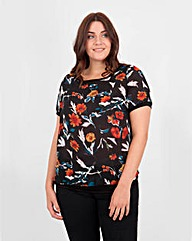 Koko Flower Print Sheer Top