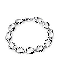 Twisted Open Oval Bracelet