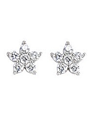 Silver and Cubic Zirconia Star Studs