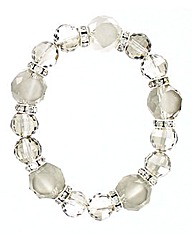 Glass Facet Bead Elasticated Bracelet