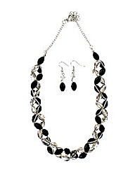 Twisted Bead Jewellery Set