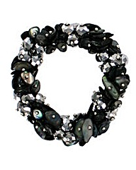 Elasticated Shell Bracelet