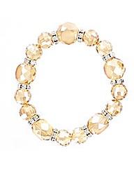 Glass Facet Bead Elasticated Bracelet