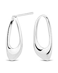 Simply Silver Polished Open Drop Earring