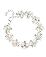 Alan Hannah Pearl Crystal Spray Bracelet