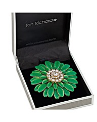 Jon Richard Layered Flower Brooch