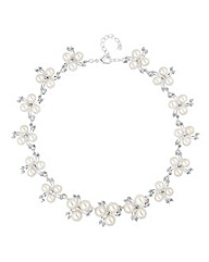 Alan Hannah Pearl Crystal Spray Necklace