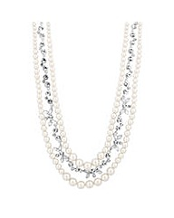 Alan Hannah Crystal Pearl Link Necklace