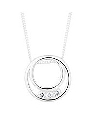 Simply Silver Ring Drop Necklace