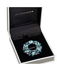 Jon Richard Blue Stone Wreath Brooch