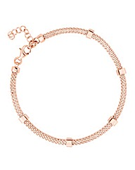 Simply Silver Rose Gold Bar Bracelet