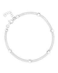 Simply Silver Bar Mesh Bracelet