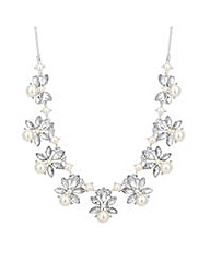 Jon Richard Crystal Pearl Link Necklace
