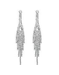 Jon Richard Diamante Tassel Drop Earring