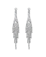 Jon Richard Diamante Tassel Drop Earring