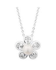 Jon Richard Pearl Daisy Drop Necklace
