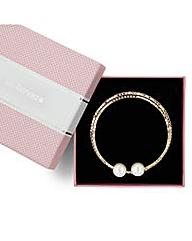 Jon Richard Diamante Pearl Coil Bracelet