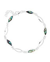 Simply Silver Abalone Navette Bracelet