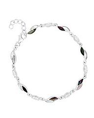 Simply Silver Pearl Leaf Link Bracelet