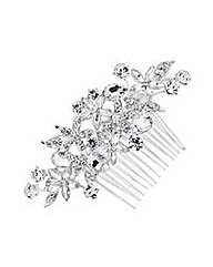 Jon Richard Navette Crystal Flower Comb