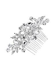 Jon Richard Navette Crystal Flower Comb