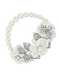 Alan Hannah Silk Flower Stretch Bracelet