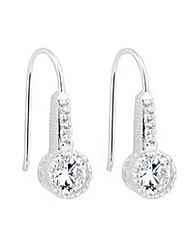 Simply Silver Round Drop Earring