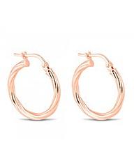 Simply Silver Rose Gold Hoop Earring