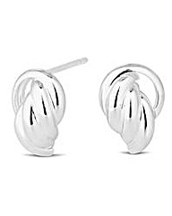 Simply Silver Polished Knocker Earring