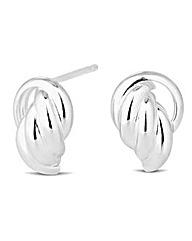 Simply Silver Polished Knocker Earring