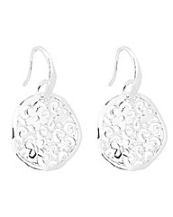 Simply Silver Disc Earring