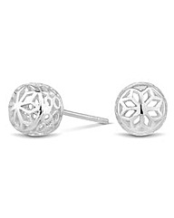 Simply Silver Ball Stud Earring