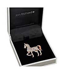 Jon Richard Crystal Horse Brooch