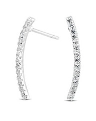Simply Silver Curved Bar Earring