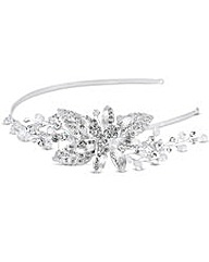 Jon Richard Crystal Flower Leaf Headband