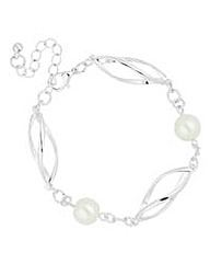 Jon Richard Cream Pearl Link Bracelet