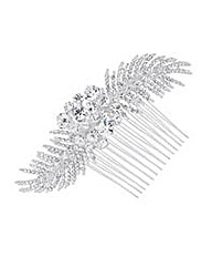 Alan Hannah Crystal Leaf Hair Comb