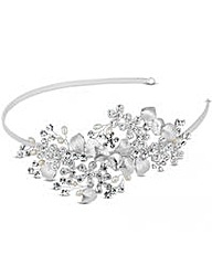 Alan Hannah Crystal Flower Headband