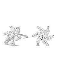Simply Silver Flower Burst Stud Earring